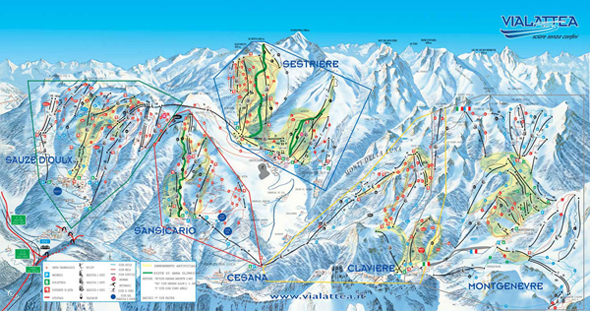 Sauze D Oulx Piste Map Sauze d'Oulx piste map   sauzeonline
