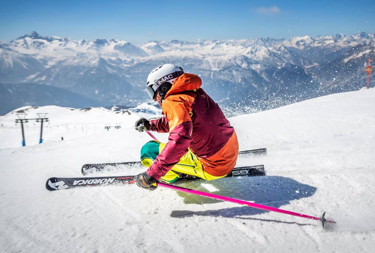 Skier Sauze d'Oulx